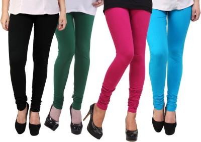 Dharamanjali Women's Black, Green, Pink, Light Blue Leggings