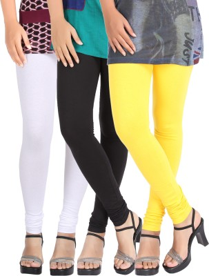Be-Style Women,s White, Black, Yellow Leggings