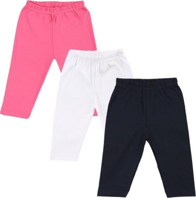 Color Fly Baby Girl's Pink, Dark Blue, White Leggings