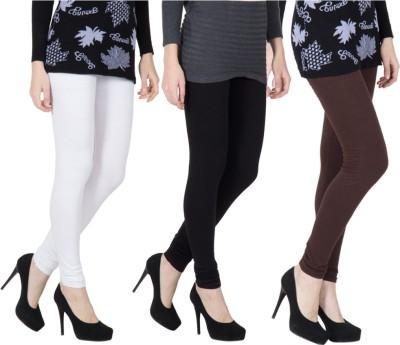 VERMELLO Women's White, Black, Brown Leggings