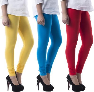 Prashil Women's Yellow, Blue, Red Leggings