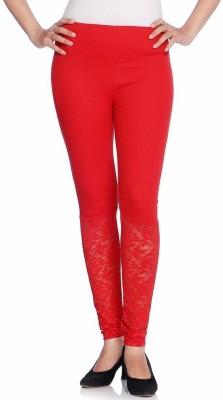 Vanita Women's Red Leggings