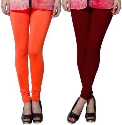 Both11 Women's Maroon, Orange Leggings
