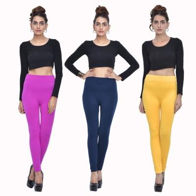 Both11 Women's Purple, Dark Blue, Yellow Leggings