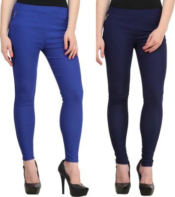 PRIHO Women's Blue, Dark Blue Jeggings
