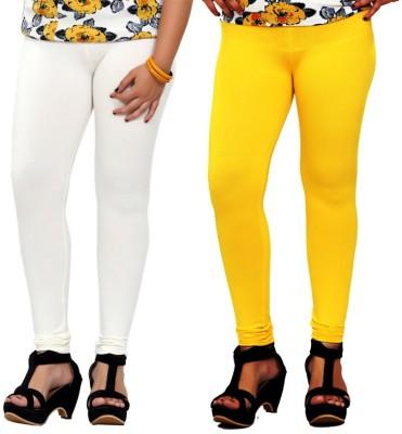 By The Way Women's White, Yellow Leggings