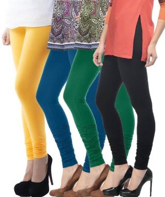 Meril Women,s Yellow, Blue, Green, Black Leggings