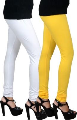 JSA Women's White, Yellow Leggings