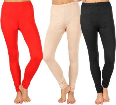 SLS Women's Red, Beige, Black Leggings