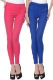 iHeart Women's Pink, Blue Jeggings (Pack...