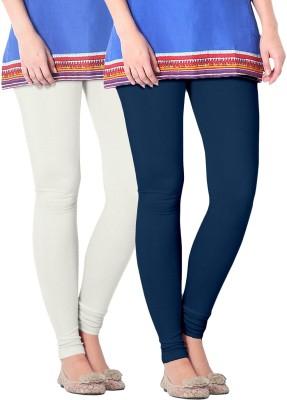 Nice Fit Women's Dark Blue, Beige Leggings