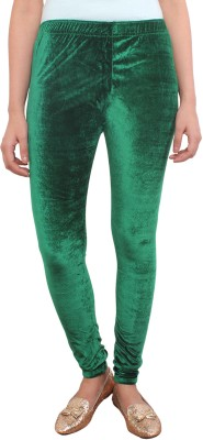 White Feather Women's Green Leggings