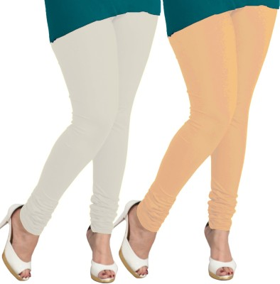 I-Diva Women's White, Beige Leggings