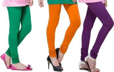 Lienz Women's Green, Orange, Purple Leggings