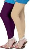 Fronex India Women's Purple, Beige Leggi...