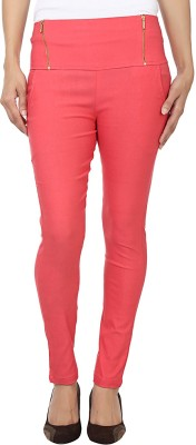 Purple Feather Women's Pink Jeggings
