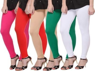Mynte Women's Pink, Orange, Beige, Green, White Leggings