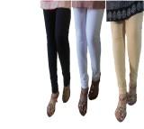 LatestQ Women's Black, White, Beige Legg...