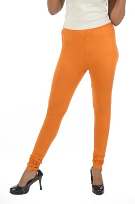 Crezyonline Women's Orange Leggings