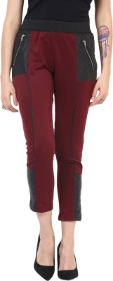 Yepme Women's Maroon Jeggings