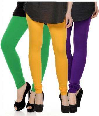 Fashion Zilla Women's Green, Yellow, Purple Leggings