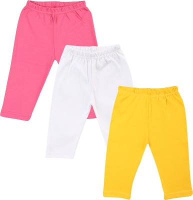Color Fly Baby Girl's Pink, White, Yellow Leggings