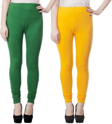 JUST CLIKK Women's Green, Yellow Leggings