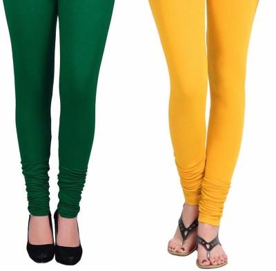 Vastra Buzz Women's Yellow, Green Leggings