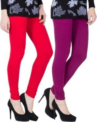 VERMELLO Women's Red, Purple Leggings