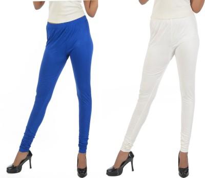 Crezyonline Women's Blue, White Leggings
