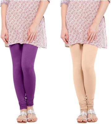 Oh Fish Women's Purple, Beige Leggings
