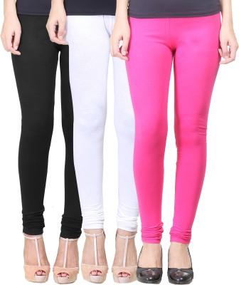 Eshelle Women's Black, White, Maroon Leggings