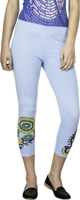 Le Bison Women's Blue Leggings