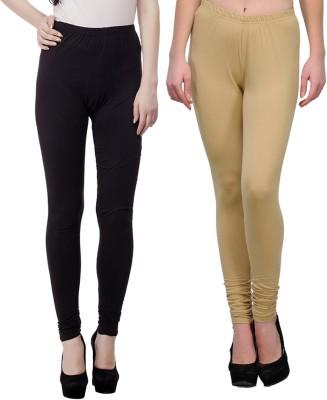 JUST CLIKK Women's Black, Gold Leggings