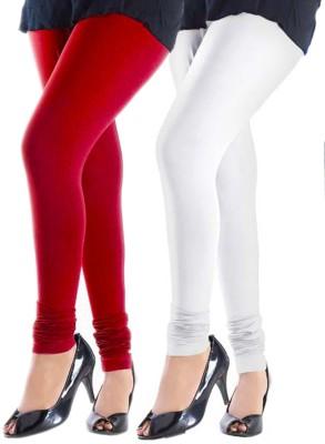 Trusha Dresses Women's Red, White Leggings