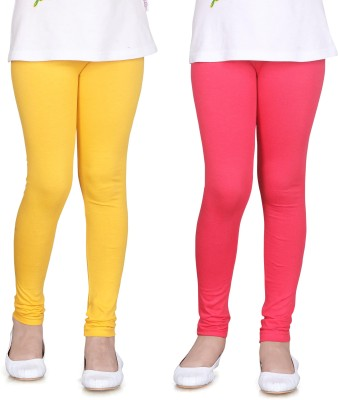 Sini Mini Girl's Yellow, Pink Leggings