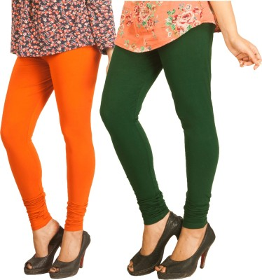 Berries Women's Orange, Dark Green Leggings
