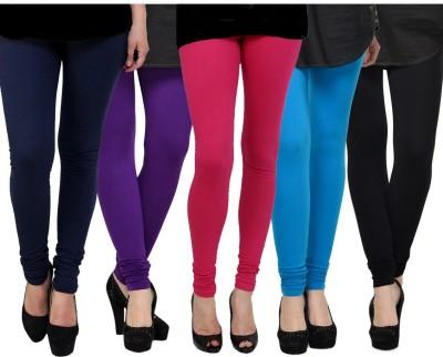 Kjaggs Women's Purple, Pink, Blue, Blue, Black Leggings