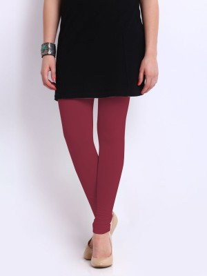 Red Rose Women's Maroon Leggings