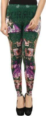 Beetle Women's Green, Purple Leggings