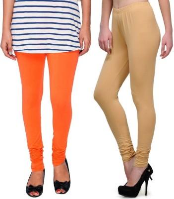 Legemat Girl,s Orange, Beige Leggings