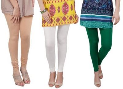 Prekrasna Women,s Gold, Beige, Green Leggings
