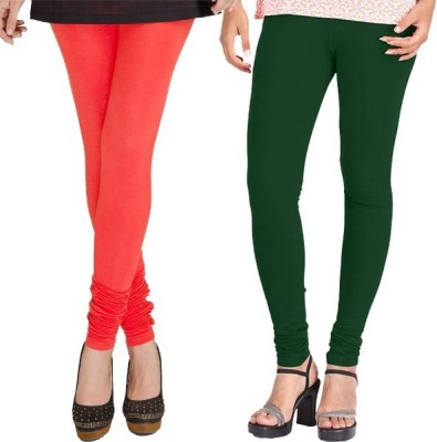 WellFitLook Women's Red, Green Leggings