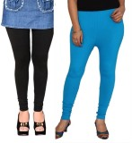 Zaytex Women's Black, Light Blue Legging...