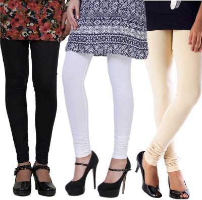 Pari Women's Black, White, Beige Leggings