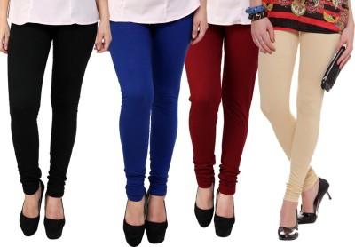 Dharamanjali Women's Black, Blue, Maroon, Beige Leggings