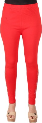 Ayesha Creations Women's Red Leggings
