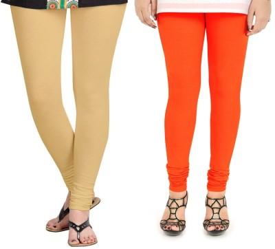 ZACHARIAS Women's Beige, Orange Leggings