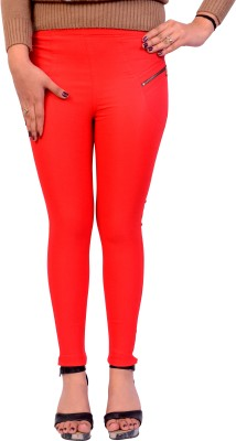 Cws Fashion Women's Red Jeggings