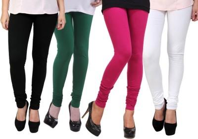 Dharamanjali Women's Black, Green, Pink, White Leggings